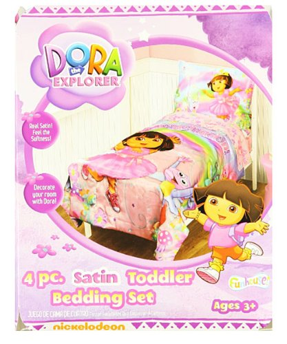 Dora the Explorer 4-Piece Toddler Bedding Set