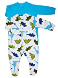 2pk Boys Friendly Dinosaur Sleepsuit + Free gift with every purchase