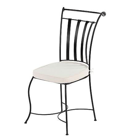 Oriental de hierro silla silla jardín Espan mediterránea de metal hierro forjado