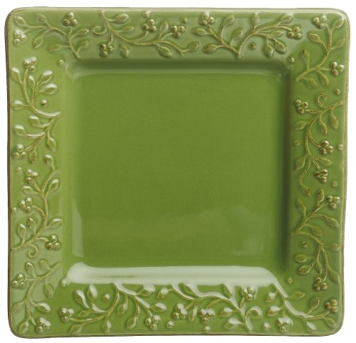 Buy Signature Housewares Chelsea 8-Inch Square Salad Plates, Parsley, Set of 6