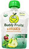 Buddy Fruits Blended Fruit and Veggies, Apple, Spinach and Pear, 3.2 oz. (Pack of 14)