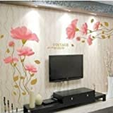 DIY Removable lotus flower Home room Decor Removable Wall Sticker/Decal