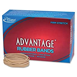 Alliance 26335 Rubber Bands, Size 33, 1 lb., 3-1/2 in.x1/8 in., Natural
