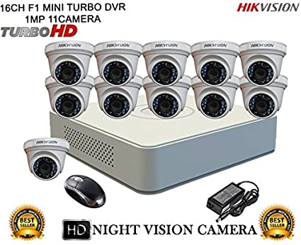 Hikvision-DS-7116HGHI-F1-Mini-8CH-Dvr,-11(DS-2CE56COT-IRP)-Dome-Cameras-(With-Mouse)