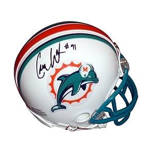 Cameron Wake Autographed Miami Dolphins Mini Helmet - Wake Holo by PalmBeachAutographs.com