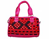 KDHS Ethnic Patchwork Multicolor Women's Polyester Double Handle Tote Bag LUSA-00101