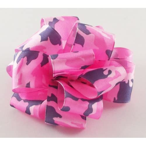 Offray Hiding Out Camo Wired Edge Ribbon, 1 1/2