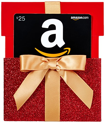 Amazon.com $25 Gift Card in a Gift Box Reveal (Classic Black Card Design)