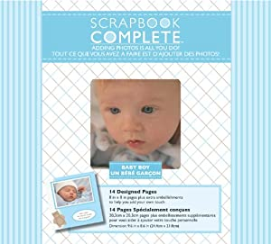 Tapestry by cr gibson baby boy complete scrapbook kit 8 by 8 inch