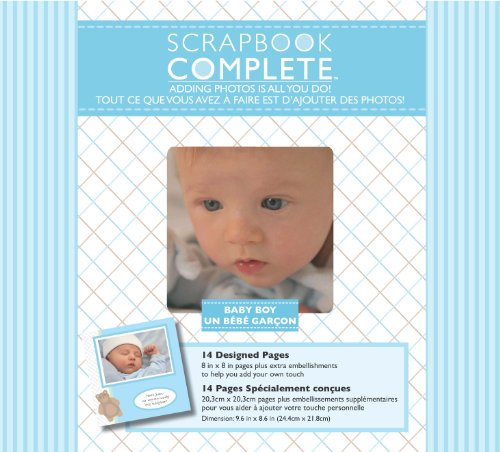 Tapestry by CR Gibson Baby Boy Complete Scrapbook Kit, 8 by 8-Inch