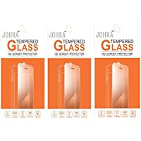 Johra 9H 2.5D Real HD+Tempered Glass Screen Scratch For LYF Flame 6 Tempered Glass - Pack Of 3