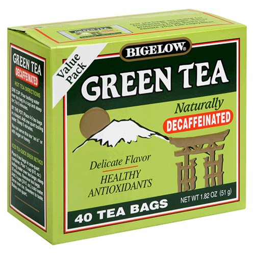 Buy Bigelow Decaffeinated Green Tea, 40-Count Boxes (Pack of 6) (Bigelow, Health & Personal Care, Products, Food & Snacks, Beverages, Tea, Green Teas)