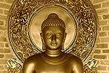 Retcomm Solutions Classic Buddha Meditating White Brick Canvas Frame Painting (91.44 cm x 0.12 cm x 60.96 cm)