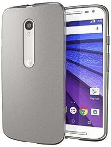 Moto X Pure Edition (Moto X Style) Case, Cimo [Matte] Premium Slim Fit Flexible TPU Cover for Motorola Moto X Style / Pure Edition - Smoke