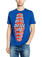 Diesel Camiseta Manga Corta T-Palagia (Azul)