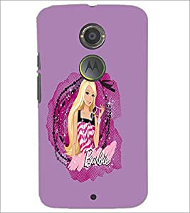 PrintDhaba Barbie D-1078 Back Case Cover for MOTOROLA MOTO X2 (Multi-Coloured)