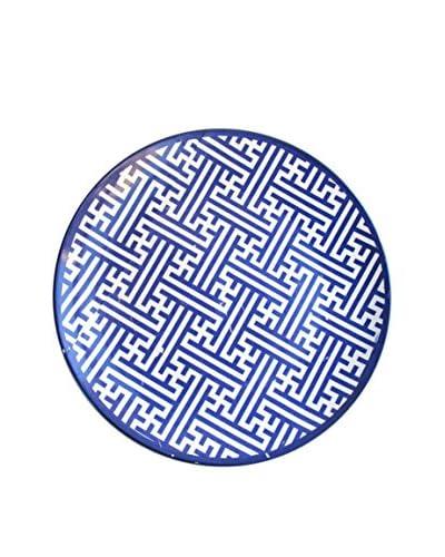 American Atelier Maze Platter, Blue/White