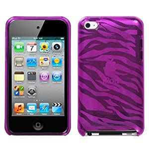 Flexi Soft Gel Skin Case for Apple iPod Touch 4th Generation - Zebra Print (Hot Pink)