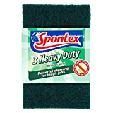Spontex Heavy Duty Scourer Pads (Pack of 3, Total 21 Scourers)
