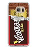 Samsung Galaxy S7 Willy Wonka Golden Ticket Chocolate Bar White Shell Cover Case,Fashion Case