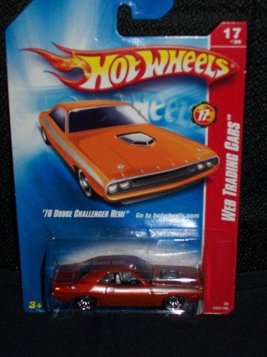 Hot Wheels 2008 093 93 Web Trading Cars '70 Dodge Challenger Hemi # 17 Of 24 Dark Orange Color 1:64 Scale