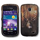 IMAGITOUCH 4 Item Combo For SAMSUNG Illusion Galaxy Proclaim i110 (Verizon Straight Talk) Rubberized Design Hard Shell Case Cover Phone Protector Faceplate - Buck Deer Hunting Camo (Stylus Pen, ESD Shield Bag, Pry Tool, Phone Cover)