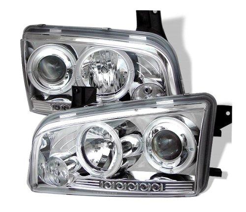 Spyder Auto Dodge Charger Chrome Halogen Led Projector Headlight