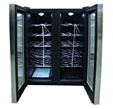 spt wc 2461h double door dual zone thermo electric wine cooler with heating