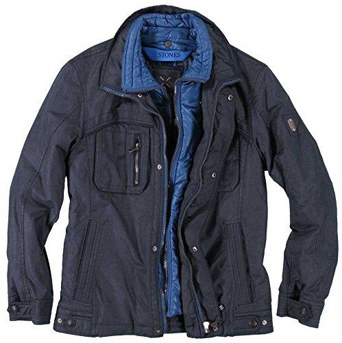 Wattierte Herren Jacke mit herausnehmbarem Innenteil der Marke Stones, H/W 15 in Blau, Art. Lennon (765003-37411-0-0) bestellen