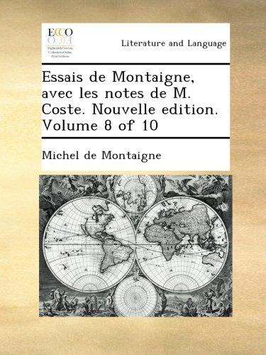 essais von michel de montaigne essays