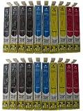 20 Druckerpatronen Epson WorkForce WF-3010DW WF-3520DWF WF-3530DTWF WF-3540DTWF Sie bekommen 8 x Schwarz 4 x Blau 4 x Rot 4 x Gelb kompatibel 1291 1292 1293 1294 1295