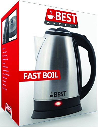 Best Electric Tea Cordless Kettle with Rapid Boil Technology, 2.0 Liter, Brushed Nickel Stainless Steel Finish (Best Selling Tea Kettle compare prices)
