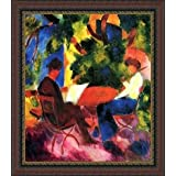 Couple At The Garden Table By Macke In Antique Shade - B00O6YJ78W