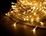 YTM(TM) 300 LEDs 32M Warm white String Fairy Lights for Christmas Party Wedding Events (8 Operation Modes) - Top Quality