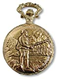 Philip Mercier Fishing Pocket Watch and Chain, Comes In Gift Box