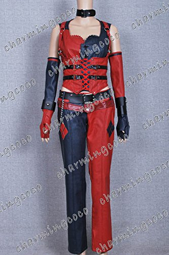 Batman: Arkham City Cosplay Costume Harley Quinn Full Set (Female L)