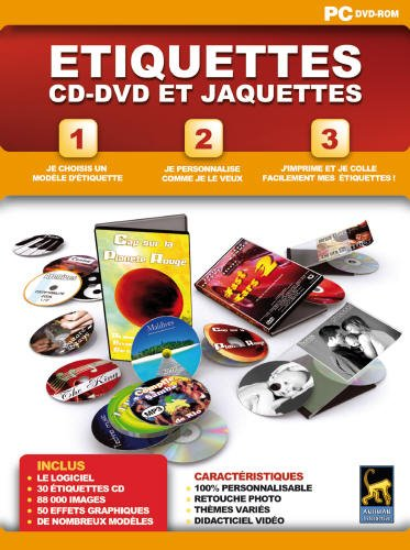 Étiquette CD - DVD (vf - French software)