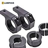"LAMPHUS Cruizer LED Off-Road Light Horizontal Bar Clamp Mounting Kit 1""/1.5""/1.75""/2"" [2 Clamps] [Includes Allen Hex Key] [User-friendly] - For Light Bar Bull Bar Tube Clamp Roof Roll Cage Holder"