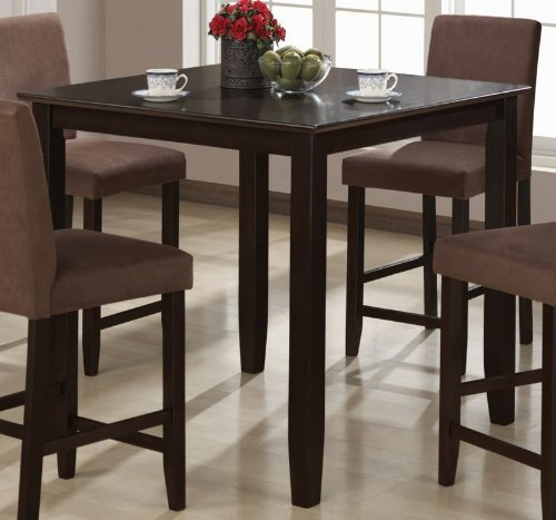 Counter Height Dining Table Cappuccino Finish