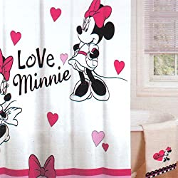 Disney Minnie Mouse fabric Shower Curtain