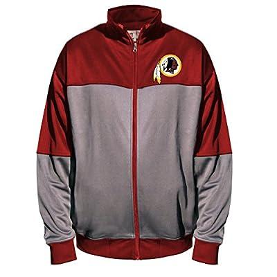 NFL Washington Redskins Unisex Poly Fleece Track Jacket, Charcoal/Garnet, 6X