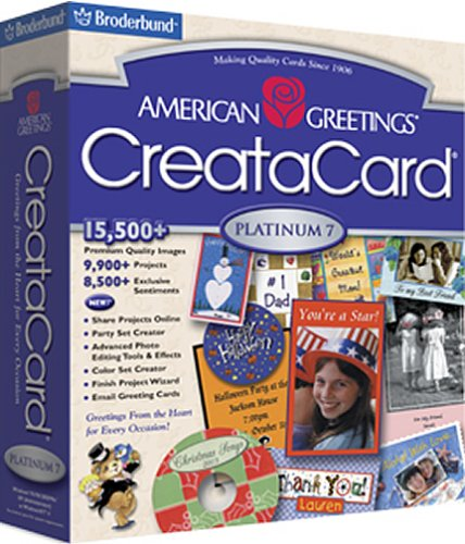 Software online store broderbund home publishing american greetings creatacard m4hsunfo