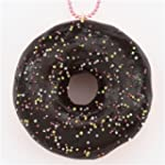 cute chocolate donut colorful dot spr...