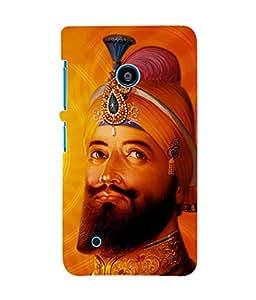 Fuson 3D Printed Lord Guru Gobind Singh Designer Back Case Cover for Nokia Lumia 530 - D522