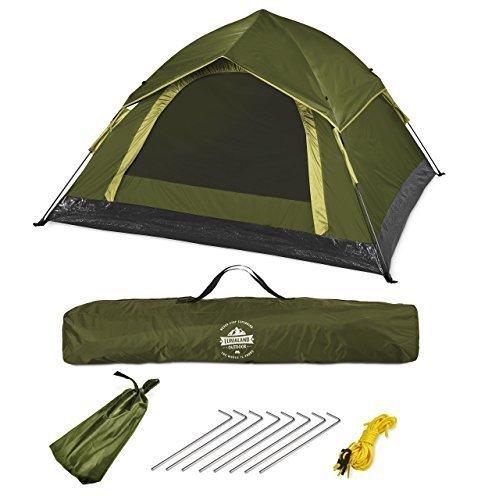 Lumaland tenda da campeggio resistente e leggera Pop Up per 3 Persone vari colori verde