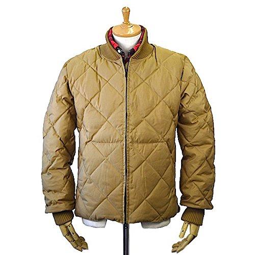 Crescent Down Works(クレセント ダウン ワークス)Diagonal Quilt Sweater 60/40 Cloth Tan x Khaki ダイヤゴナル キルト セーター ダウンジャケット アメリカ製