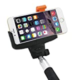 Snugg™ 41 Extendable 2-in-1 Bluetooth Selfie Stick with Shutter Button / Wireless Cell Phone Camera Monopod for All iPhone / Android Phones