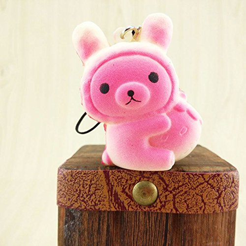 [Cute Squishy Bread Cell Phone Charm Soft Cartoon Key Chains Straps] (Puck To The Face Costume)