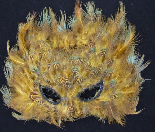 Cat Mask Bayou Feather Venetian Mask Mardi Gras Masquerade Halloween Costume