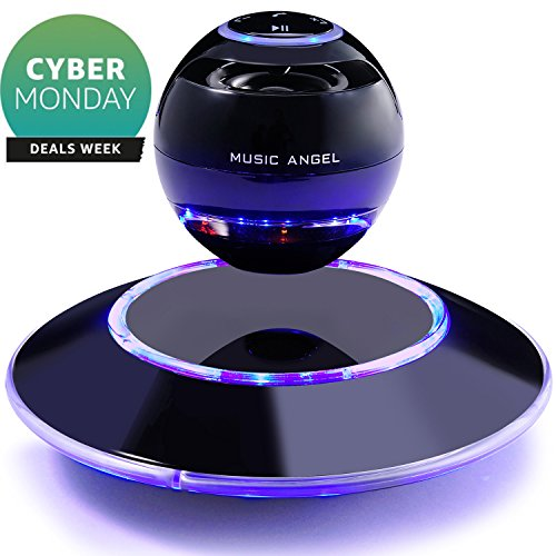 Music Angel JH-FD19 Levitating Portable Wireless Bluetooth Speakers with Microphone for iphone and ipad (Black) (Portable Music Speaker compare prices)